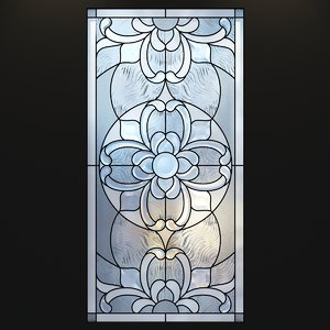 3D glass stained stained-glass