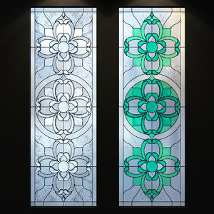 3D model glass stained stained-glass