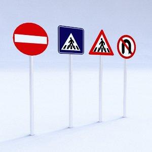 3D model traffic signs