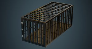 3D model cage contains 1a