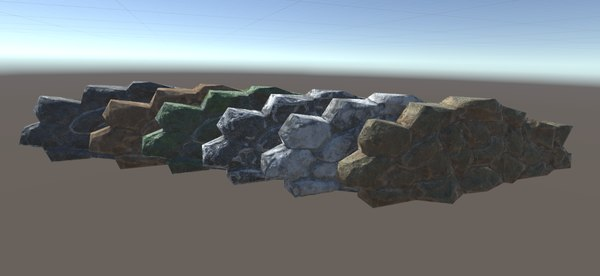 3D stone fence