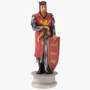 chess piece king white 3D