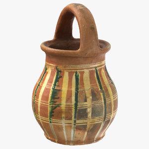 clay pot 03 3D