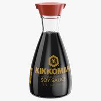 soy sauce bottle 02 3D
