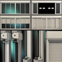 sliding stained glass windows 3D model