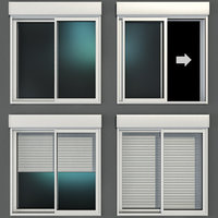 3D sliding stained glass windows