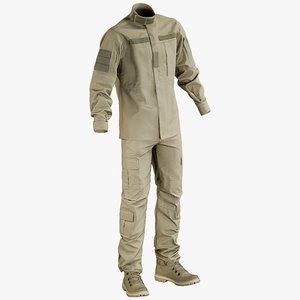 realistic military uniform boots 3D model