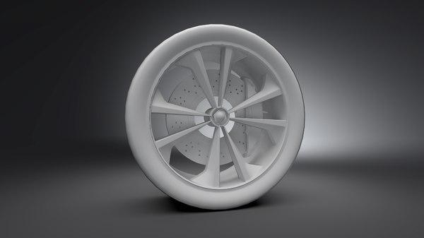 3D car rim model