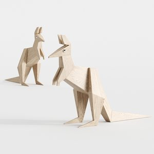 3D model origami kangaroo