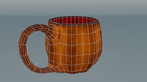 jack-o-lantern halloween mug 3D model