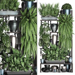 3D vertical exotic plants model