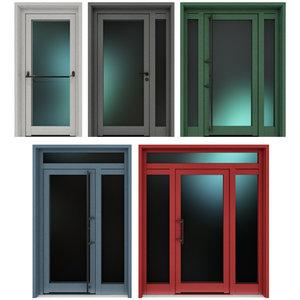 metal doors 3D