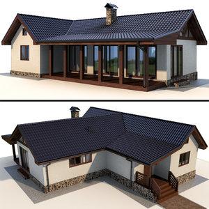 3D terrace house