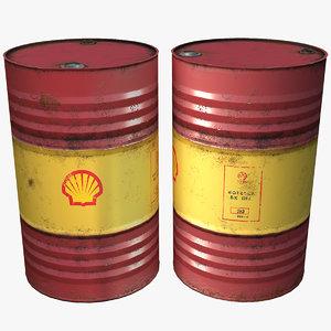 3D shell barrel oil model