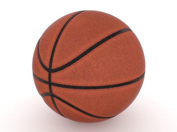 3D basketball blender black model