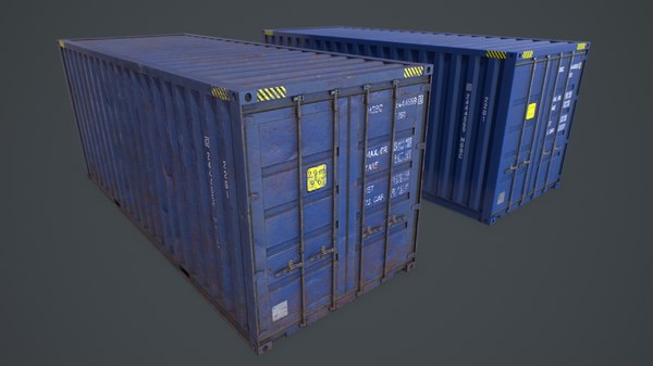 3D pbr container model