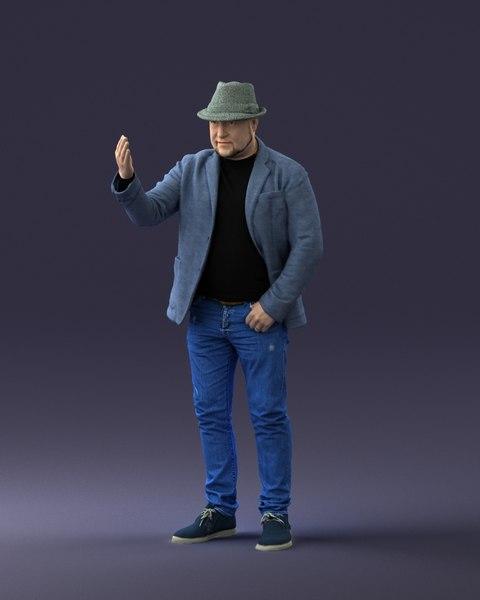 man hat model
