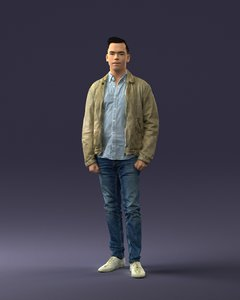 man casual clothes model