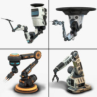 Robotic Arms Low Poly Collection