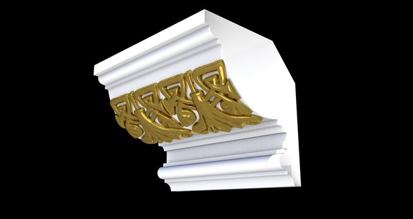 patterned cornices 3D model