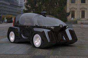 futuristic cars city 3D model