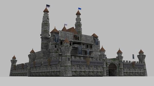 3D castle houses model