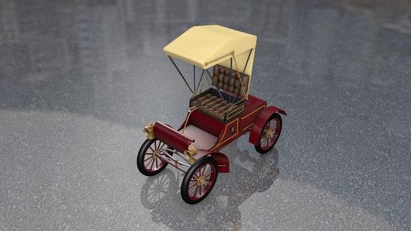3D model oldsmobile antique car carriage