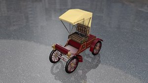 3D model oldsmobile antique car carriage