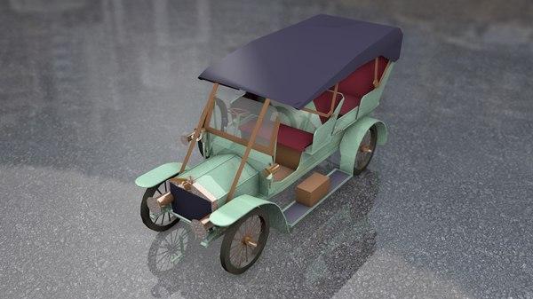 3D antique luxury car