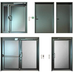 3D metal doors model