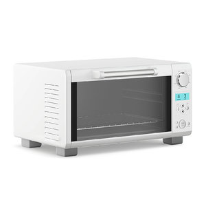 silver microwave 3D