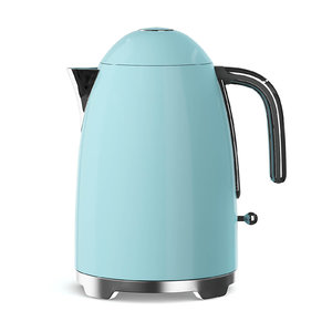 3D cyan electric kettle model