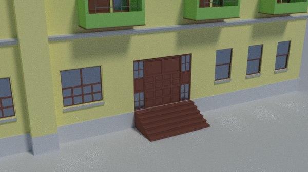 building balconies 3D model