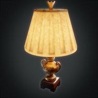 3D lamp decorated asset