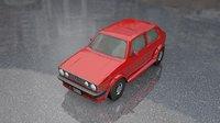 Volkswagen Golf Old Model Lowpoly