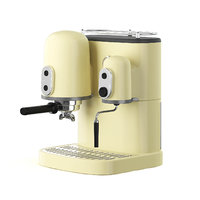 3D model yellow coffee machine