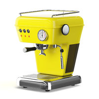 yellow coffee machine 3D model
