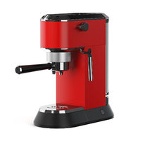3D red coffee machine