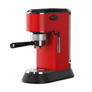 3D red coffee machine