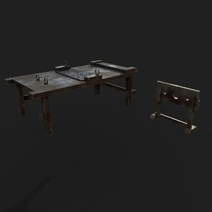 torture table guillotine 3D model