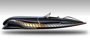 future flying car concept 3D model