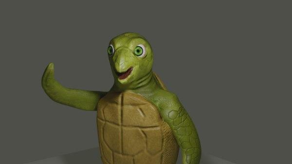 carlos turtle cartoon 3D model
