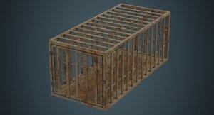 3D cage contains 1d model