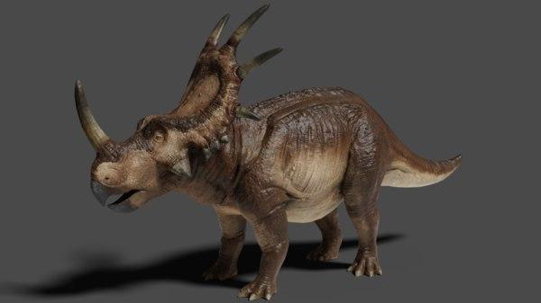 3D model styracosaurus dinosaur