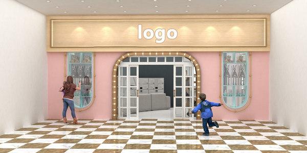 children s parent-child restaurant 3D