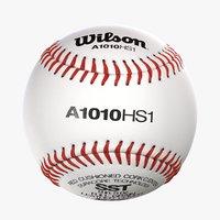 3D wilson baseball ball realistic model