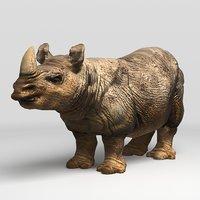 3D rhinocheros rhino