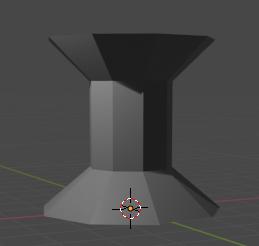 3D model wide pillar