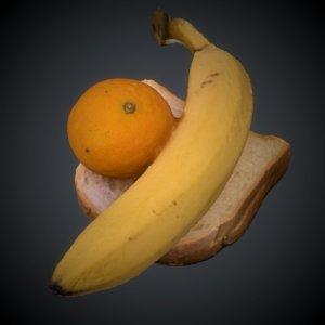 3D banana bread model