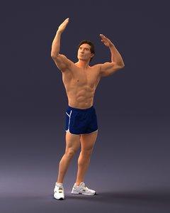 3D bodybuilder model